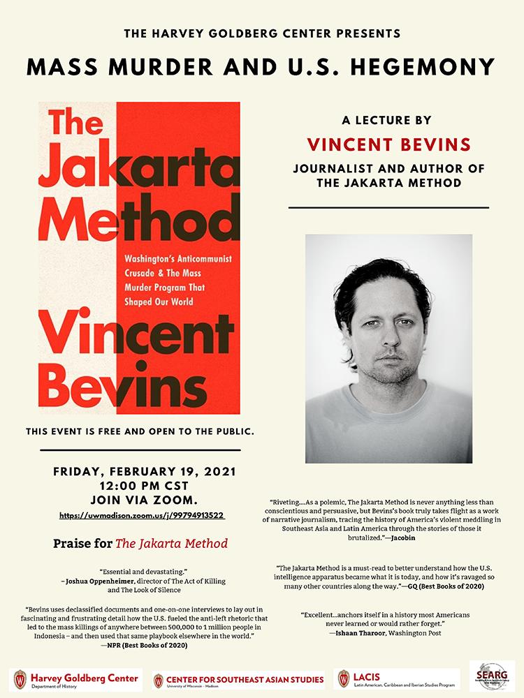 Event Poster: Vincent Bevins